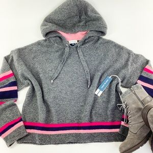 COURT & ROWE IVY LEAGUE HEATHER GREY/PINK SWEATER